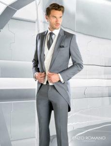 traje de novio gris enzo romano chaque